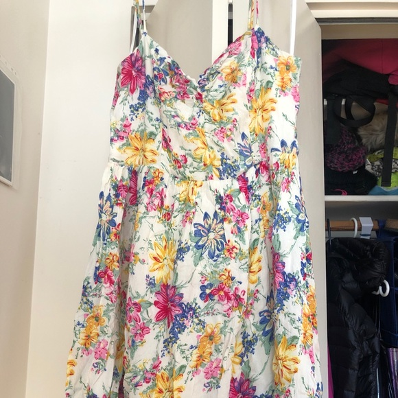 Summer flower flowy dress